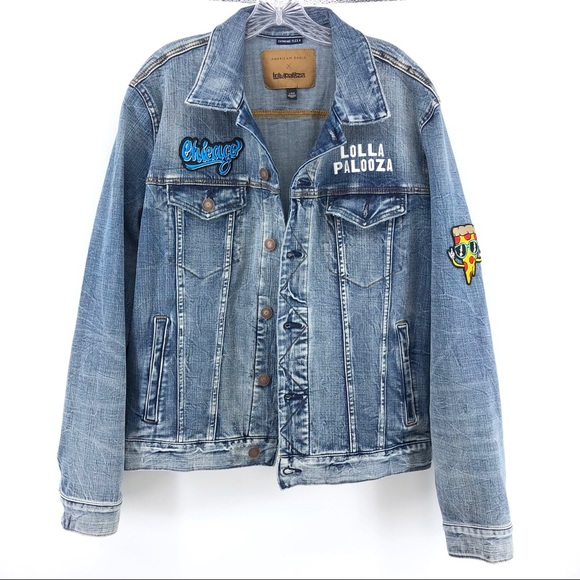 American Eagle Outfitters Other - Chicago Lollapalooza Denim Jacket L American Eagle